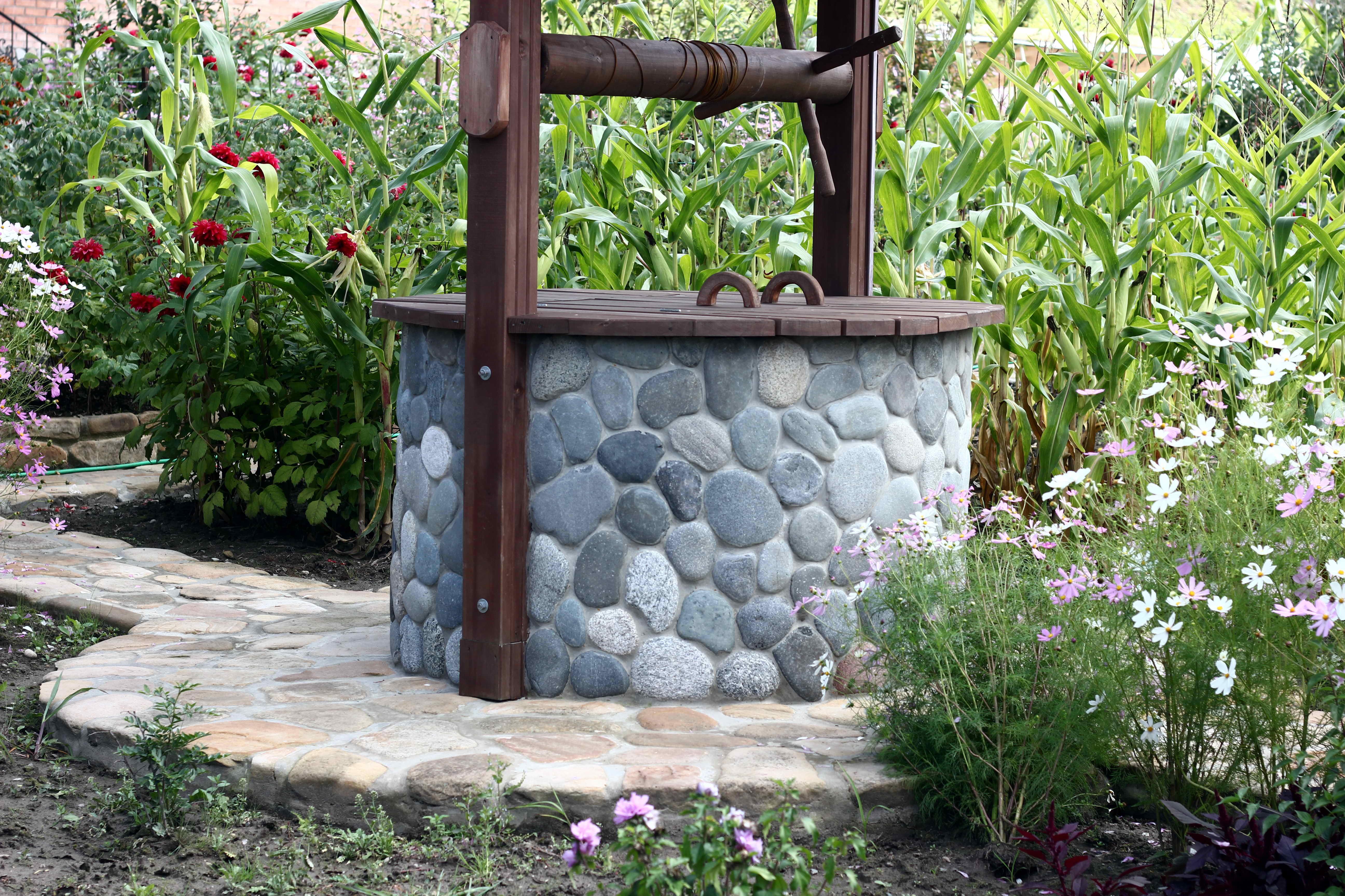 Как отделать колодец своими руками из камня